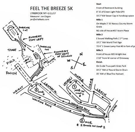 Feel The Breeze 5k Map